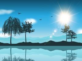 Landschaftshintergrund vektor