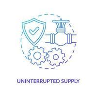 Symbol für ununterbrochenes Versorgungskonzept vektor