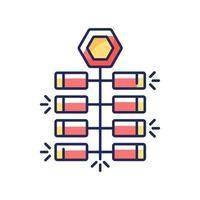 kinesiska smällare rgb färgikon vektor