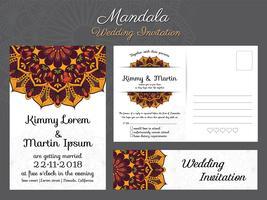 Klassisk vintage bröllopinbjudan kortdesign med vackra Ma vektor