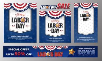 Lycklig Labour Day banner bakgrundsdesign. Vektor illustration