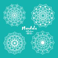 Satz dekoratives und dekoratives Design der Mandala vektor