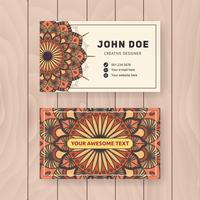 Kreatives nützliches Geschäftsnamen-Kartendesign. Vintage farbige Manda