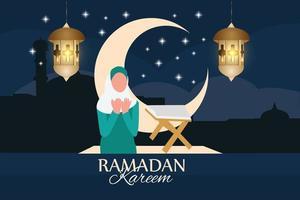 ramadan kareem traditionell islamisk festival religiös vektor