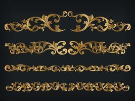 Teiler Royal Gold Vintage Ornament Linie Rahmen dekorative Vektor