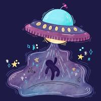 Nette UFO-Entführung vektor