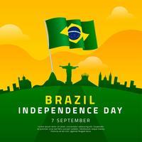 Brasilien Unabhängigkeitstag Vorlage vektor