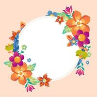 schöner Blumenrahmen Hintergrund vektor