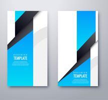 Moderna blå eleganta banderoller sätta mall vektor