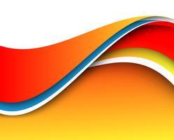 Abstrakt färgrik modern kreativ vågbakgrund vektor