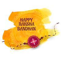 Hälsningskortdesign med raksha bandhan festival bakgrund vektor