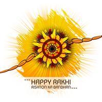 Hälsningskortdesign med raksha bandhan färgstark bakgrund vektor