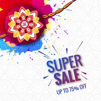 Vacker festival Raksha Bandhan superförsäljningskoncept färgstarka ba vektor