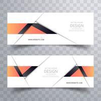 Set-Vektorschablone des modernen stilvollen Fahnendesigns