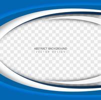 Transparenter Hintergrundvektor der abstrakten blauen Welle vektor