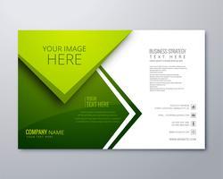Vacker grön affär broschyr vektor mall