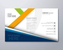 Kreativ företagsbroschyr mall vektor design