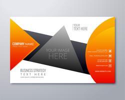 Abstrakt kreativ färgstark affärsmedelsbroschyr mall bakgrund vektor