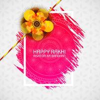 Vacker rakhi för indisk festival, Raksha Bandhan firande vektor