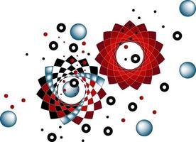 Vektorbild der geometrischen Farben vektor