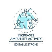 ökar konceptikonen för amputerad aktivitet vektor