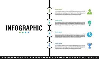 Infografik Designvorlage mit Geschäftskonzept vektor