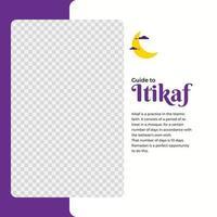 ramadan kareem firande sociala medier mall vektor