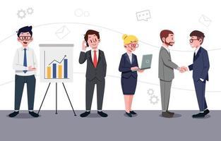 Sammlung von Geschäftsleutencharakteren vektor