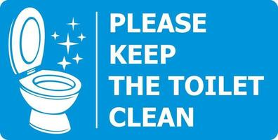 Bitte halten Sie die Toilette sauber vektor