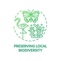 Erhaltung des Symbols des lokalen Biodiversitätskonzepts vektor