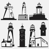 Leuchtturm Vektor Logo Design-Vorlage