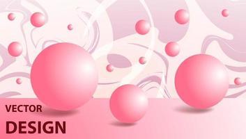 Vektorhintergrund-Fantasiebild in Form von Kugeln oder Blasen mit komplizierten Mustern vektor