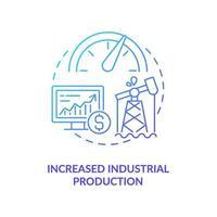 erhöhte industrielle Produktionskonzeptikone vektor