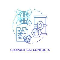 Konzeptikone für geopolitische Konflikte vektor