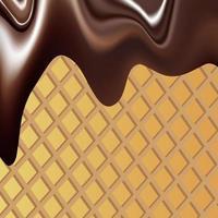 Vektorhintergrundbild, das die flüssige Schokoladenmasse mit Streuseln darstellt vektor