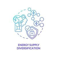 Symbol für das Konzept der Diversifizierung der Energieversorgung vektor