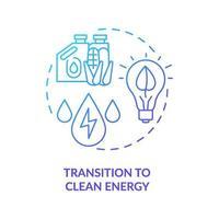 Übergang zum Konzept des sauberen Energiekonzepts vektor