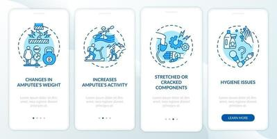 protetik ersätter förhållanden ombord på mobilappssidan med koncept vektor
