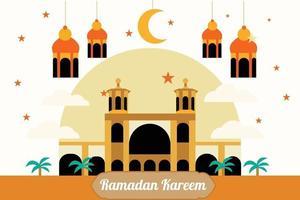 traditionelles ed Festival Banner mit islamischer Dekoration vektor