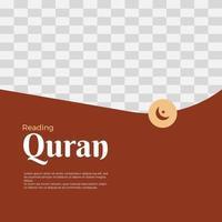 ramadan kareem hälsning sociala medier post mall vektor