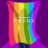 lgbt affisch design gay pride lgbtq ad divercity koncept vektor