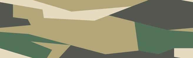 militär eller jakt panorama khaki geometriska sömlösa mönster - vektor