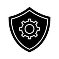 ikon för säkerhetsinställningar vektor