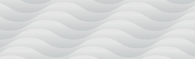 weißer Vektorpanoramahintergrund mit Wellenlinien und Schatten vektor