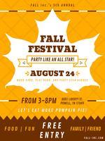 Funky Herbst Festival Vektoren