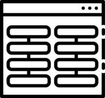 Liniensymbol für Spalten vektor
