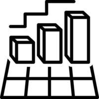 linje ikon för diagram vektor