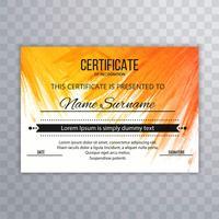 Vacker färgstark certifikatbakgrund vektor