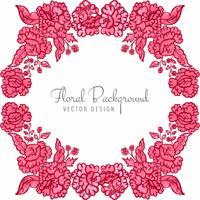 Vacker dekorativa bröllop färgglada blommig bakgrund vektor