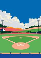 Baseball-Park-Landschaft vektor